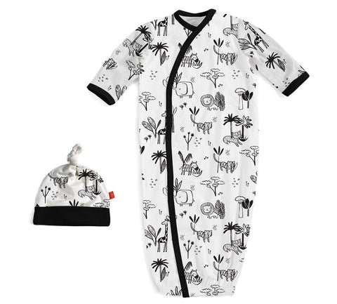 Safari Modal Magnetic Gown and Hat Set