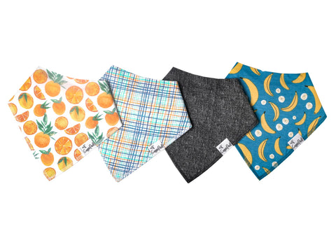 Citrus Baby Bandana Bib Set of 4