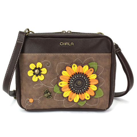 Sunflower Organizer Crossbody Purse