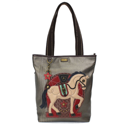Horse Everyday Zip Tote Bag