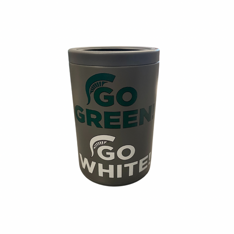Go Green, Go White Gray Combo Can Cooler