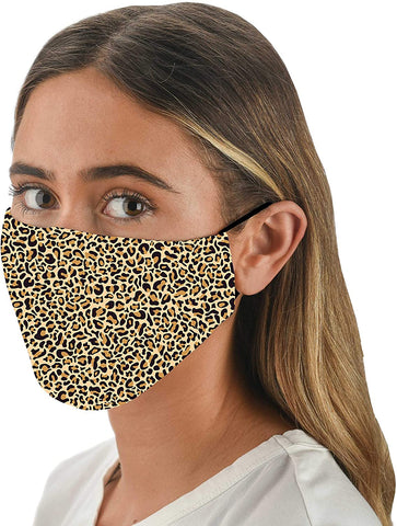 Leopard Adjustable Face Mask With Filter