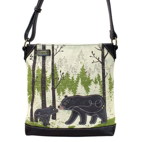 Bear Canvas Crossbody Bag