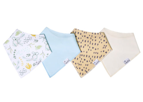 Aussie Baby Bandana Bib Set of 4