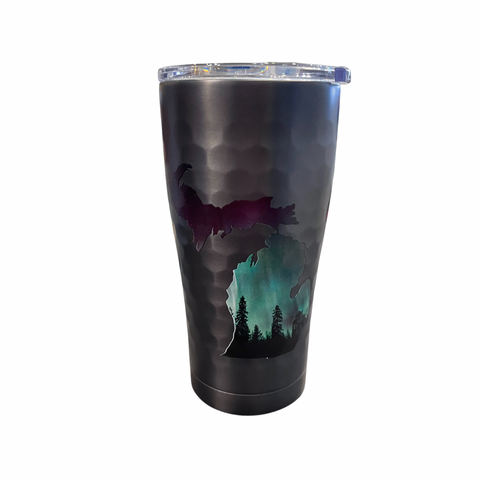 Northern Lights Gunmetal 20 Oz Insulated Tumbler