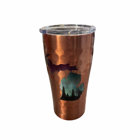 Northern Lights Copper Dimpled 20 Oz Insulated Tumbler