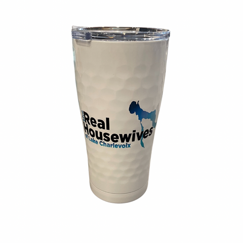 Real Housewives of Lake Charlevoix Golf White 20 Oz Insulated Tumbler