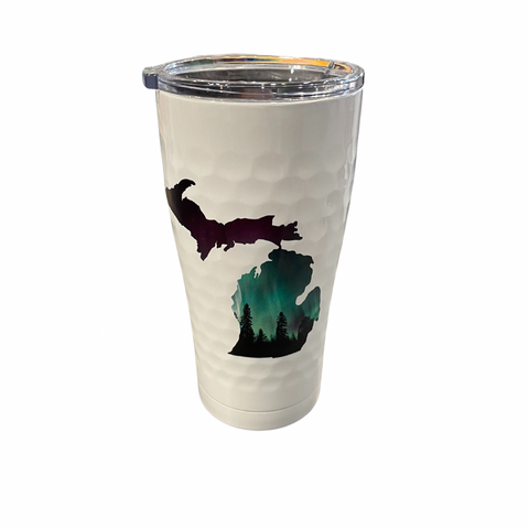 Northern Lights Golf White 20 Oz Insulated Tumbler