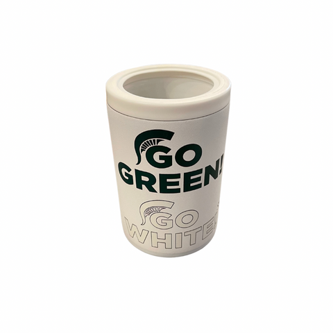 Go Green Go White White Combo Can Cooler