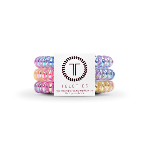 Eat Glitter For Breakfast Set of 3 Small Teleties Hair Ties