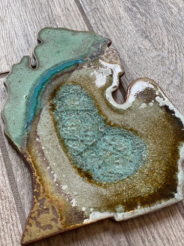 Michigan Geode Crackle Trivet and Serving Board