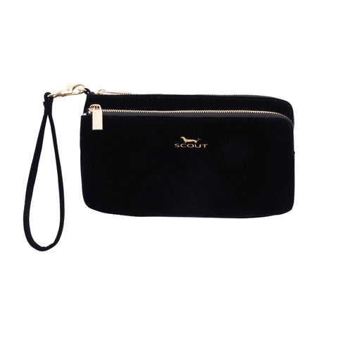 Black Velvet Kelly Wristlet