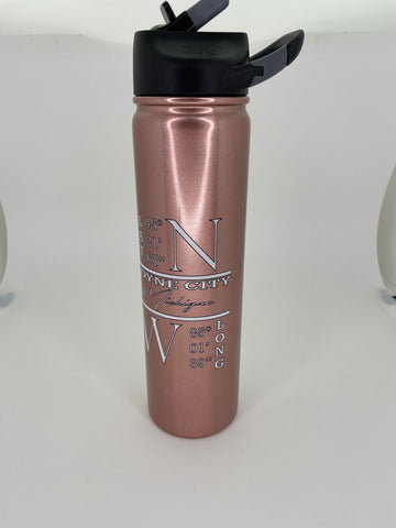 Rose Gold Boyne City Insulated Water Bottle 27 oz