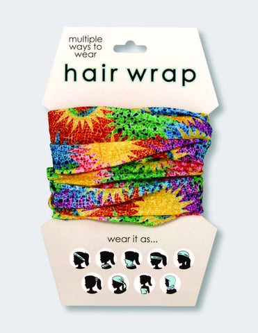 Color Burst Printed Hair Wrap/Face Mask