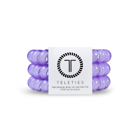 Lilac Set of 3 Teleties Hair Ties