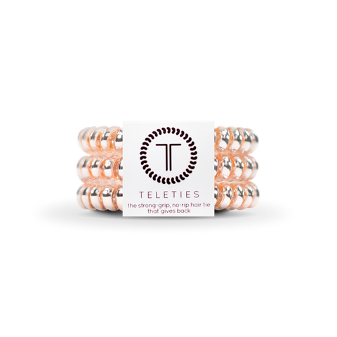 Millennial Pink Set of 3 Small Teleties Hair Ties