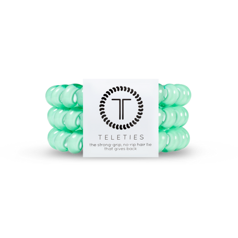 Mint Set of 3 Teleties Hair Ties