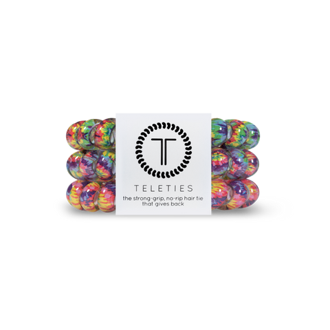Psychedelic Set of 3 Teleties Hair Ties