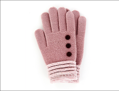 Pink Button Glove