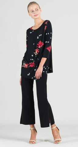 Floral Flake Twist Front Tunic