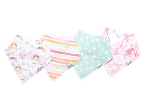 Enchanted Baby Bandana Bib Set of 4