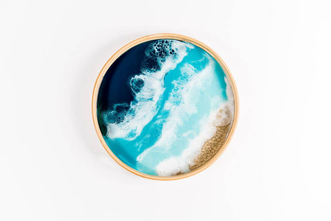 Lake Vibes Round Serving Tray