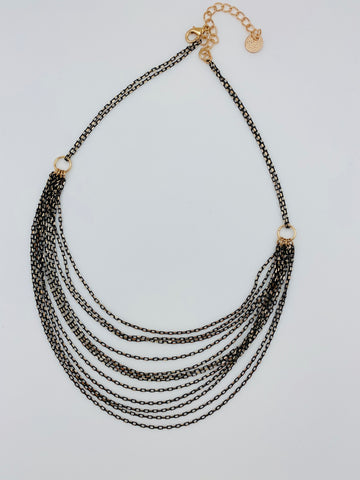 Multiple Chain Drape Necklace