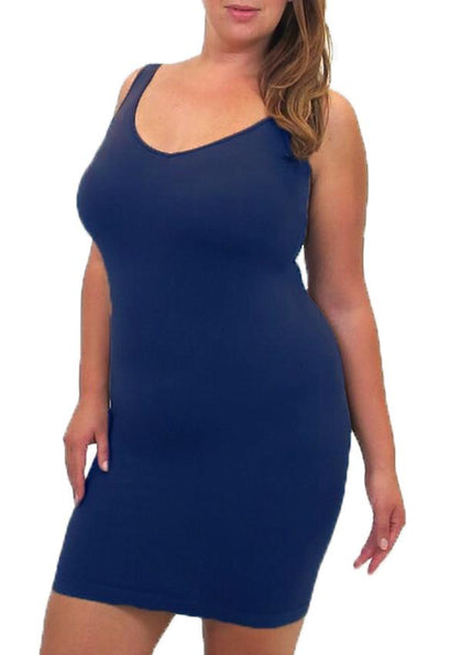 Plus Size Reversible V-Neck and Scoop Dress Tank