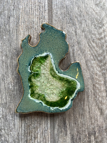 Michigan Geode Crackle Coaster