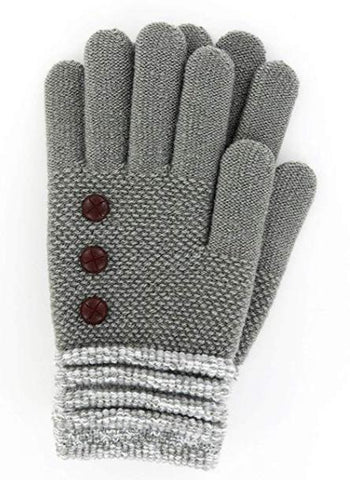 Gray Button Glove