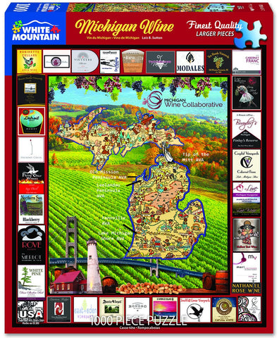 Michigan Wine 1000 Piece Puzzle