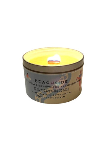 Beachside 16 oz Tin Candle With Wooden Wick