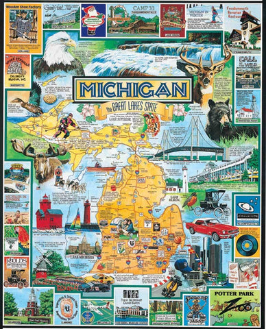 Best of Michigan 1000 Piece Puzzle