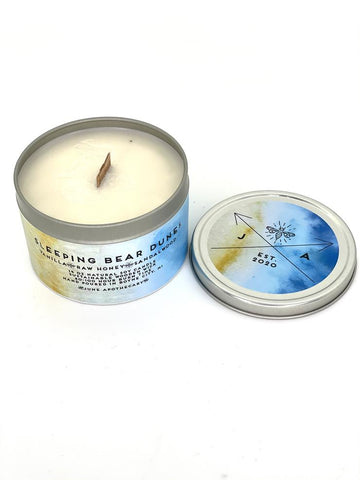 Sleeping Bear Dunes 16 oz Tin Candle With Wooden Wick