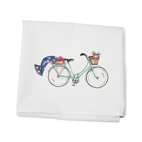 Beach Bike Local Kitchen Towel
