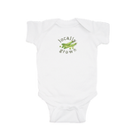 "Peas ""Locally Grown"" Watercolor Short Sleeve Onesie"