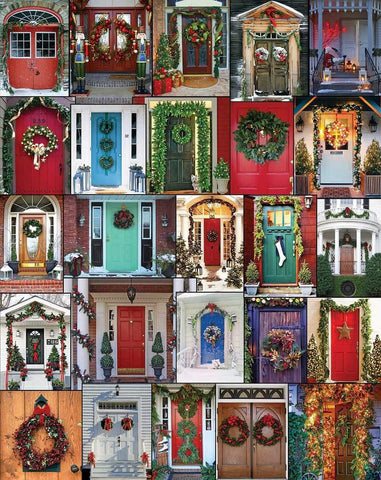 Holiday Doors 1000 Piece Puzzle
