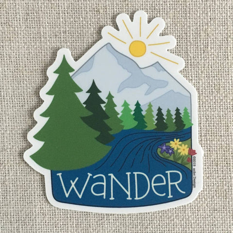 Wander Mountains Vinyl Sticker