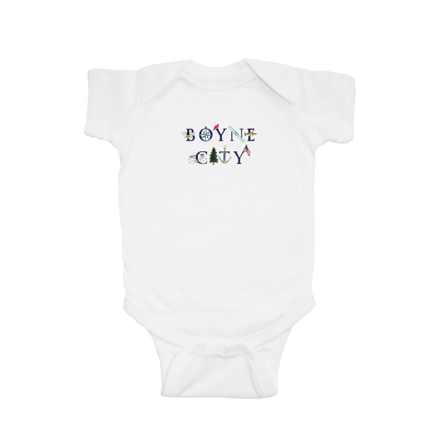 Boyne City Watercolor Short Sleeve Onesie