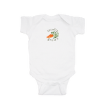 "Carrots ""Locally Grown"" Watercolor Short Sleeve Onesie"