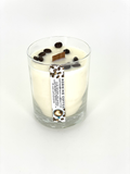Morning Coffee 16 oz Highball Glass Candle With Wooden Wick