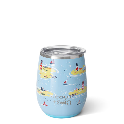 Ships and Giggles Insulated Wine Glass