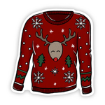 Reindeer Sweater Sticker