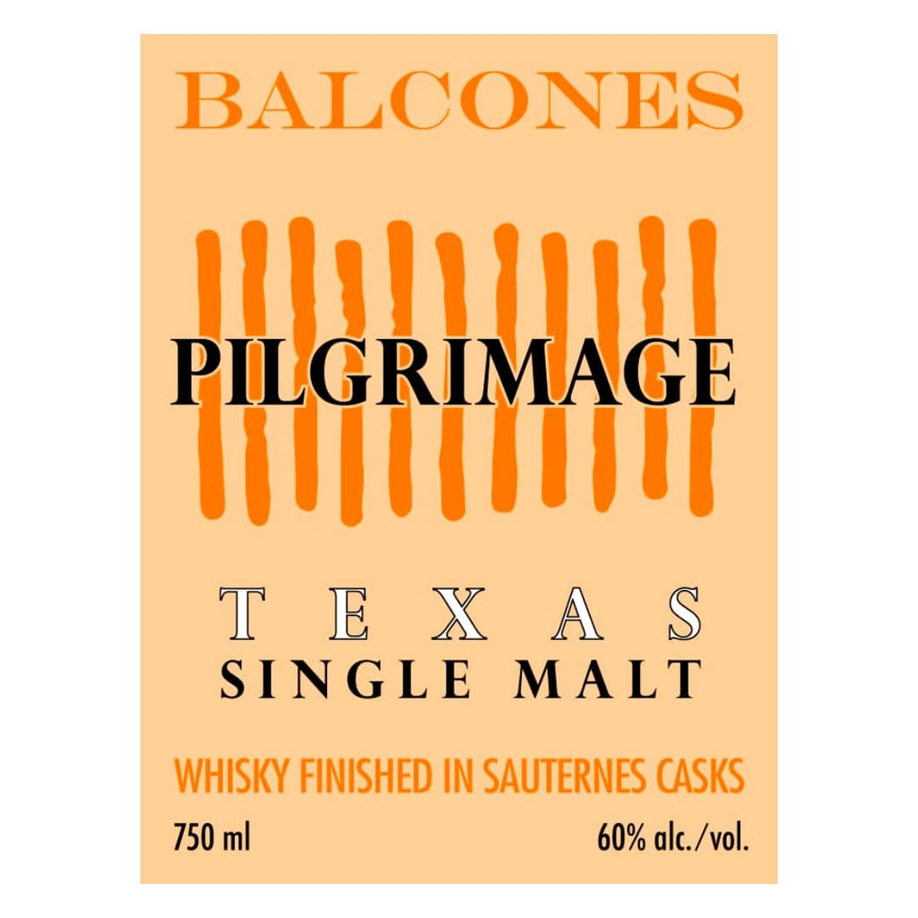Balcones Pilgrimage Single Malt Whiskey Balcones