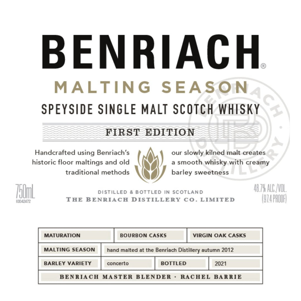 Benriach Malting Season First Edition Single Malt Scotch Whiskey BenRiach
