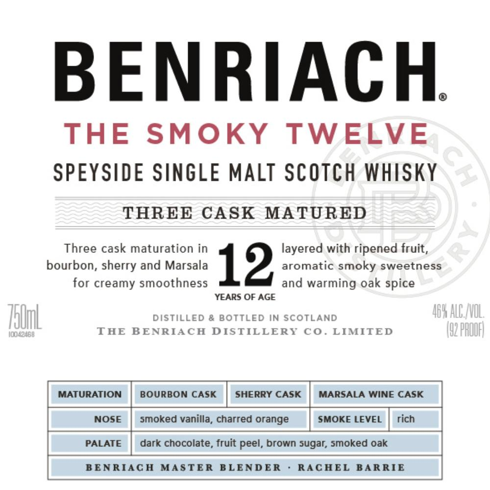 BenRiach The Smoky Twelve Scotch BenRiach