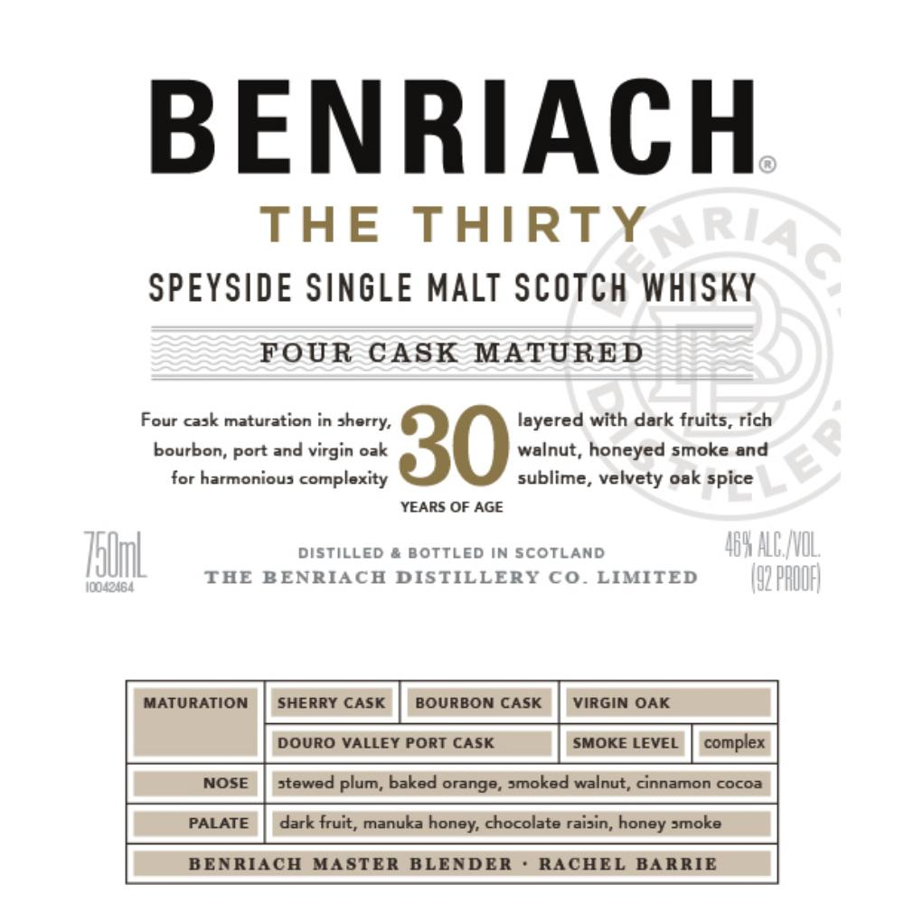 BenRiach The Thirty Scotch BenRiach