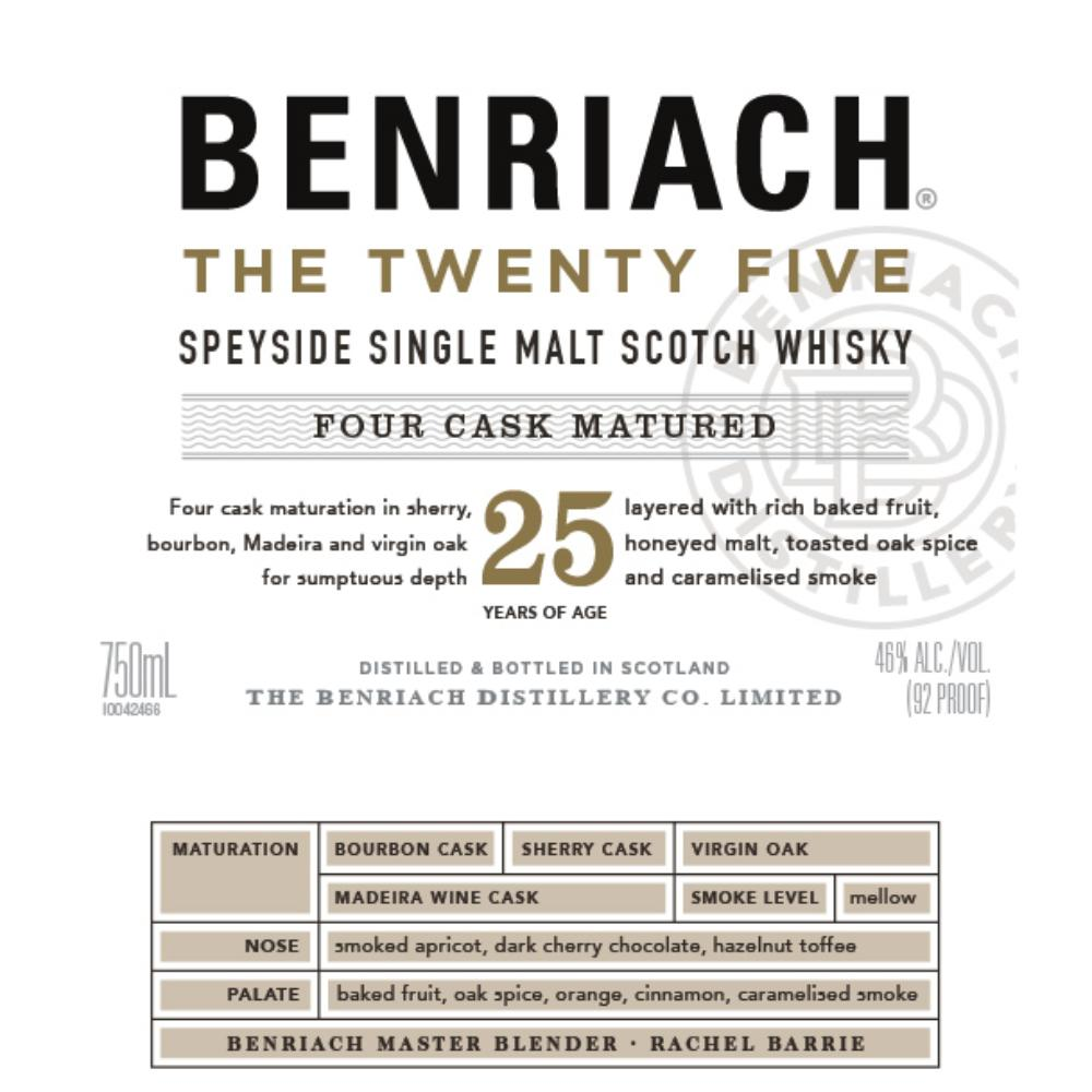 BenRiach The Twenty Five Scotch BenRiach