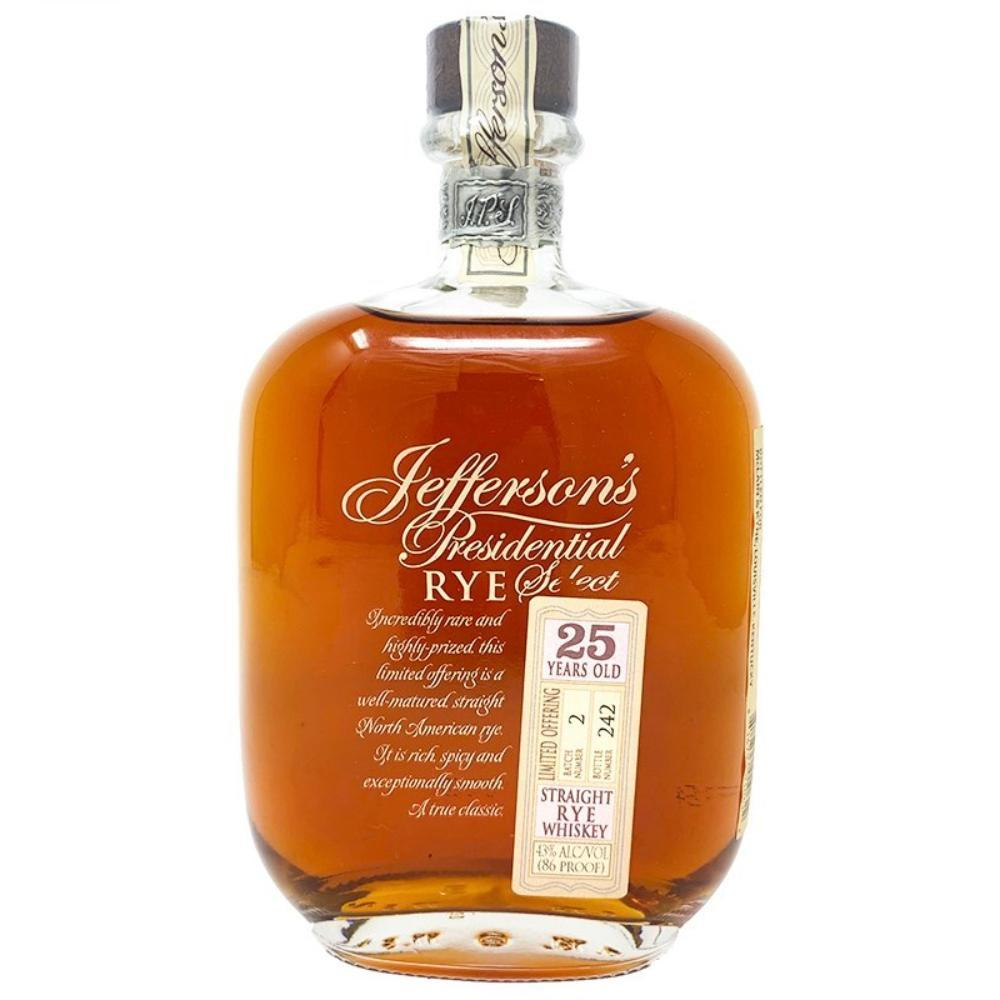 Jefferson's Presidential Select 25 Year Old Rye Bourbon Jefferson's