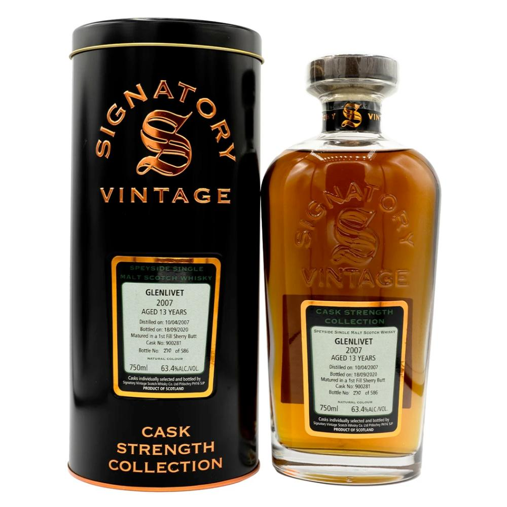Signatory Single Cask Glenlivet 13YR (Cask #900281) Scotch Signatory